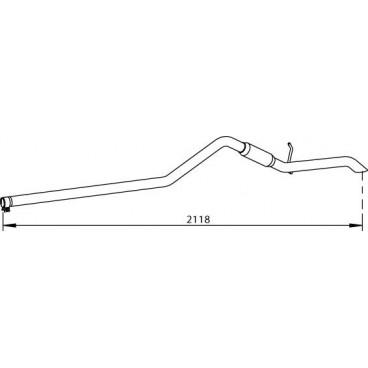 tuyau d 39 chappement ref 3125280 dinex. Black Bedroom Furniture Sets. Home Design Ideas