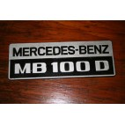 plaque mercedes benz mb100 mb 100 d